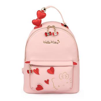 Hello Kitty粉色可爱双肩包小背包