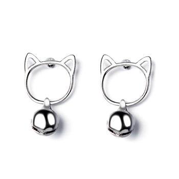 甜美萌宠猫咪耳环