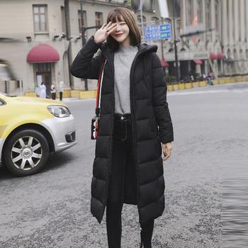 衣织优美  修身显瘦加厚长款棉服