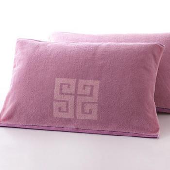 金号纯棉加厚素色枕巾2条