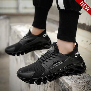 跨洋 潮流时尚刀锋运动男鞋 黑色