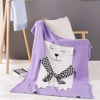 维科VEKEN卡通风纯棉针织毯