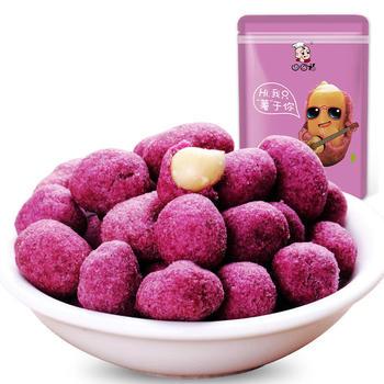 口口福紫薯花生188g 休闲炒货零食特产 风味花生