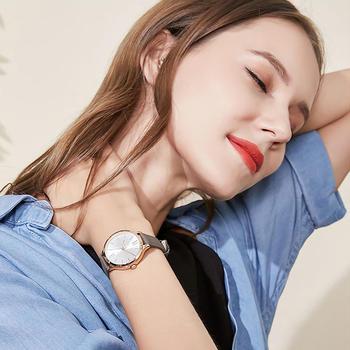 聚利时韩版夜光女士皮带石英手表