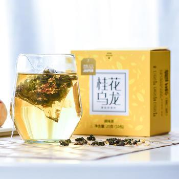 简品桂花乌龙茶三角包袋泡花茶20g