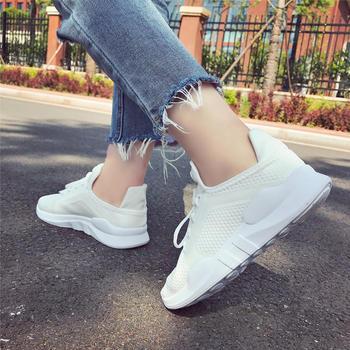 安欣娅透气网面系带韩版运动鞋