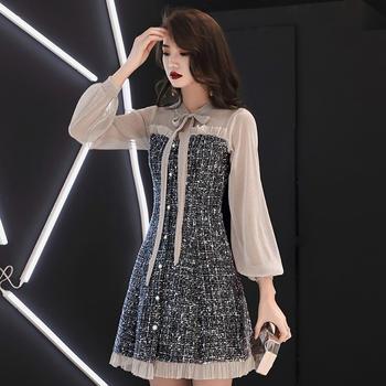 时尚气质新款长袖显瘦小礼服裙