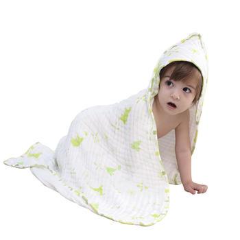意嬰堡 蒲公英六層紗布帶帽浴巾  柔軟吸水易洗易干