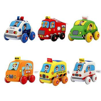 JB卡通萌趣城市交通回力车玩具
