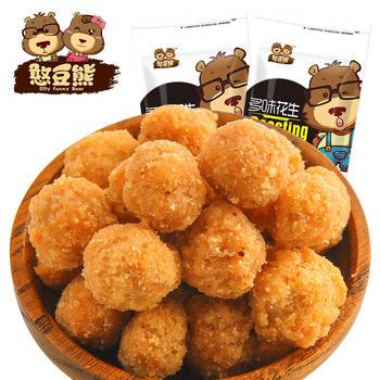 憨豆熊 多味花生120g*2袋 炒货零食