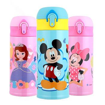 迪士尼带锁扣防漏水弹盖保温杯350ml