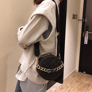 宾尼兔新款小圆包单肩链条包包女