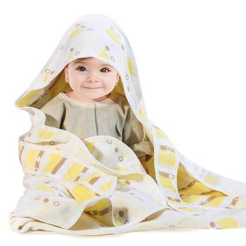 意嬰堡六層提花紗布抱被蓋毯被   綁帶設計