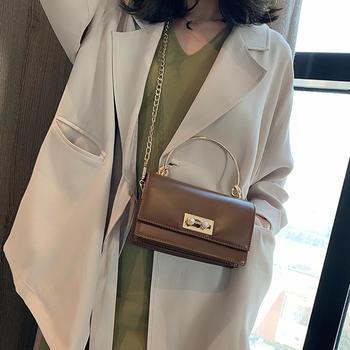雅诗罗时尚手提小方包单肩锁扣包