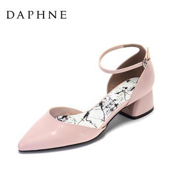Daphne/达芙妮粗跟单鞋1017102010