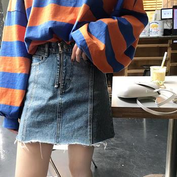 BIGKING 大金家 牛仔短裙 高腰显瘦半身裙