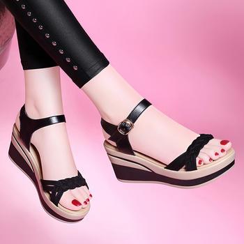 厚底坡跟女夏季新款韩版百搭凉鞋