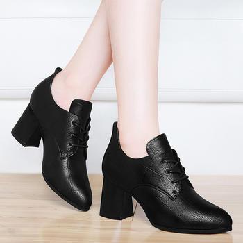 高跟鞋春季新款职业女鞋粗跟单鞋