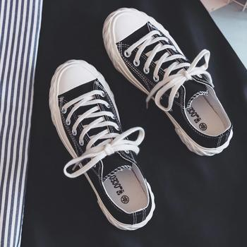 CONGC女新款帆布鞋原宿ulzzang休闲鞋学生韩版平底板鞋