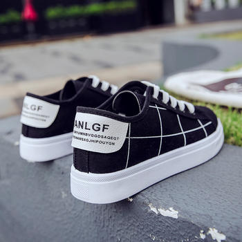 CONGC2019春夏季韩版原宿新款帆布鞋百搭超火鞋板鞋