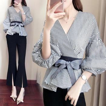 XYMZ 2019新款装韩版气质时髦两件套阔腿喇叭裤套装女
