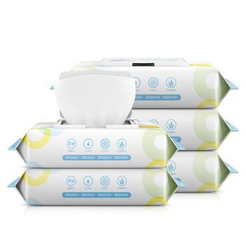 植护 湿巾80抽装5包婴儿可用ro纯水 不含酒精