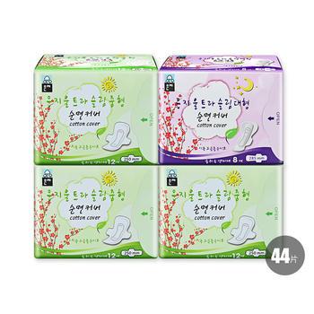 韩国•恩芝Eunjee(超薄日用卫生巾250mm/12P*3+超薄夜用卫生巾285mm/8P)