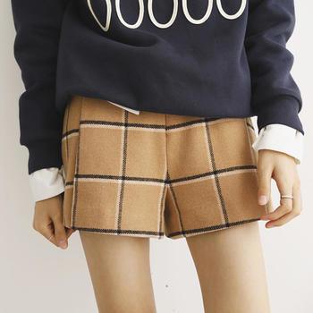 BIGKING 大金家 驼黑拼色羊毛时尚新款毛呢女裤