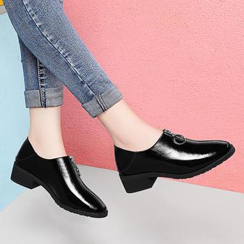 新款时尚春季韩版套脚鞋圆头单鞋