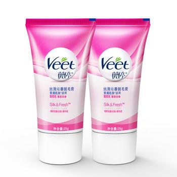 薇婷(veet) 普通肌肤毛膏25g*2 女性专用