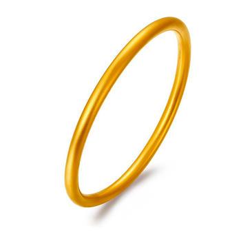 阿梵尼 传承古法银黄金色手镯情侣磨砂面实心男女款