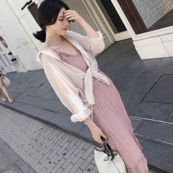小众气质小香风维多利亚复古套装法式很仙a字裙两件