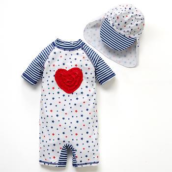 猪猪的故事婴幼儿连体泳衣宝宝泳衣女1-3岁女童泳衣