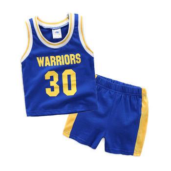 贝壳元素夏季男童篮球套装无袖背心短裤tz4336