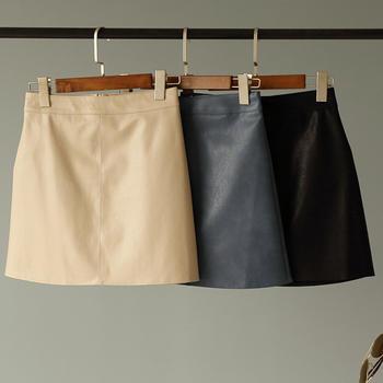 兰菲2018秋季新款时尚纯色包臀半身短裙