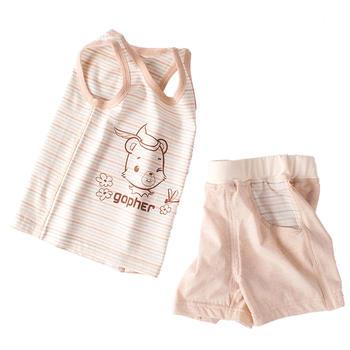 谷斐尔 GOPHER上衣短裤套装纯棉轻薄儿童宝宝衣服夏
