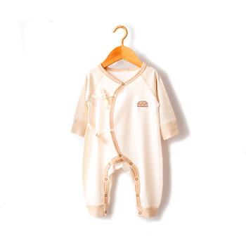 谷斐尔纯棉长袖春秋连体衣宝宝哈衣婴幼儿爬服内衣