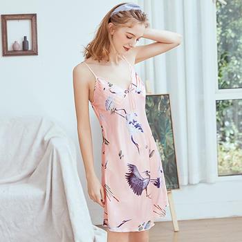 酷诺真丝睡女士夏季花边性感吊带睡裙家居服