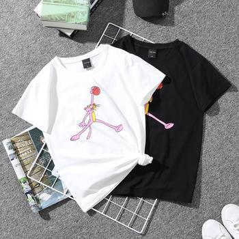 凡哈情侣装夏装半袖新款韩版宽松白色短袖
