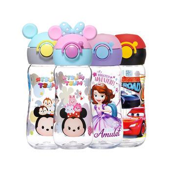 迪士尼儿童带锁扣软胶直饮便携水杯400ml