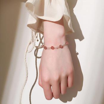 显白显瘦甜美草莓晶双层手链旺姻缘闺蜜礼物