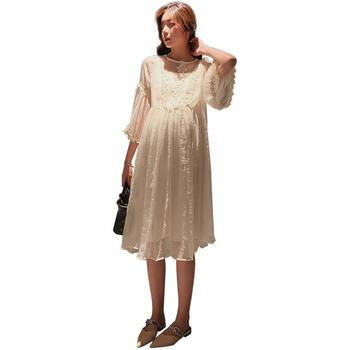 欧丽妈咪孕妇连衣裙仙女超仙孕妇装夏天裙子时尚夏装