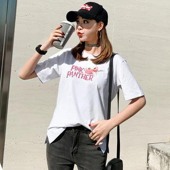 新款韩版女装JQ1928休闲套头短袖t简约上衣圆领T恤