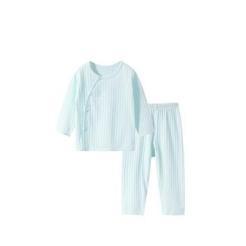 舒贝怡 婴儿偏开睡衣套装夏空调服