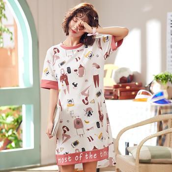 凯丝柔纯棉睡衣舒适卡哇伊可外穿家居服睡裙
