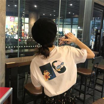 美丽后2019新款宽松韩版BF风T恤上衣百搭潮款