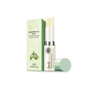 彼丽植物修护悦色润唇膏橄榄3.2g 保湿补水 无色 防干裂