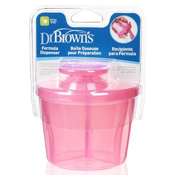 美国布朗博士奶粉盒便携外出三格分装盒AC038红色