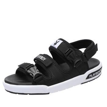 花花公子凉鞋男士夏季新款沙滩鞋软底韩版运动休闲鞋