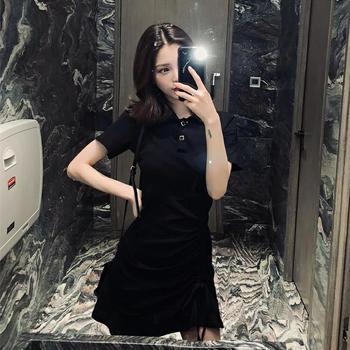 衣岚香夏天新款法国小众收腰桔梗裙子女